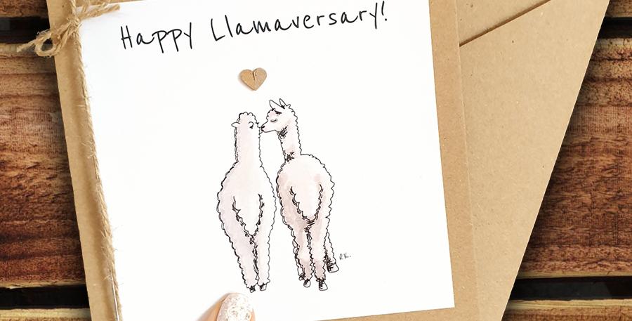 Happy Llammaversary Card