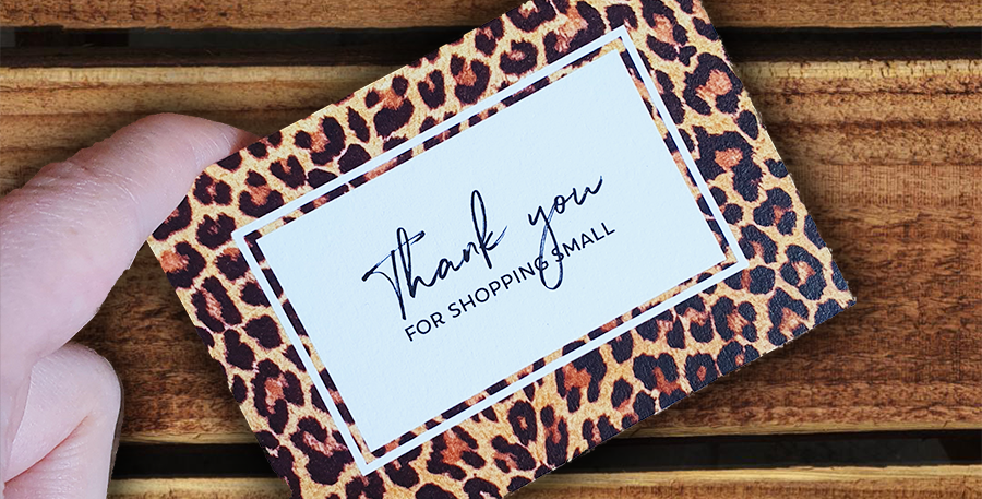 10pk/ Leopard Thank You Cards