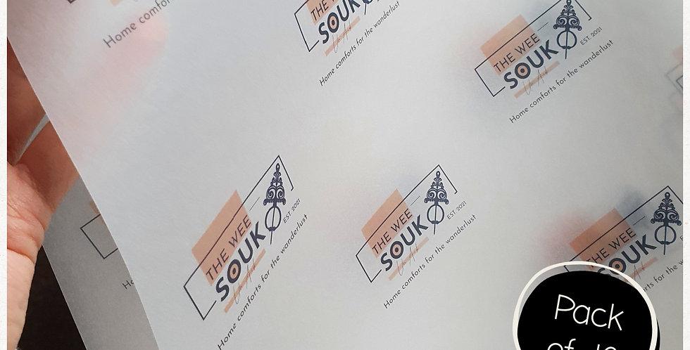 10pk - A3  Logo Transparent Logo Sheets
