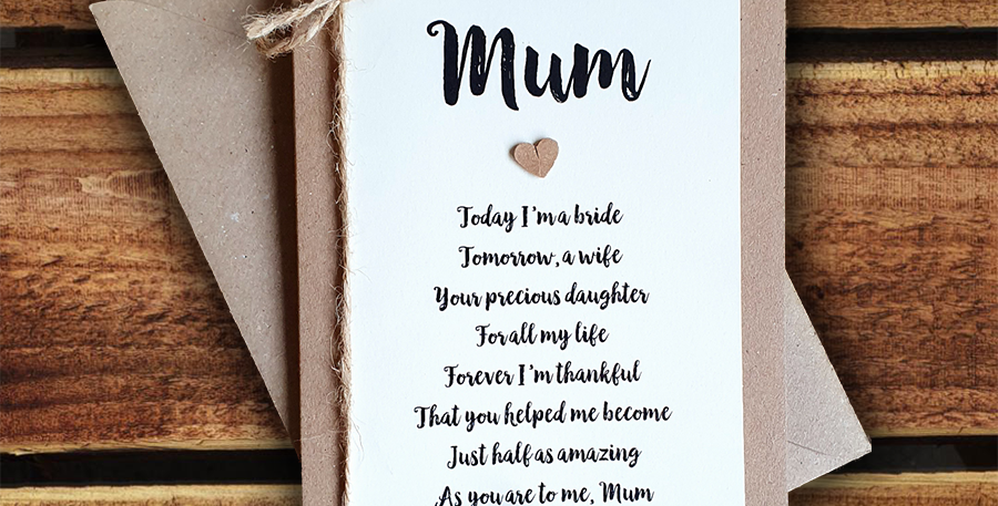 Mum Wedding Card