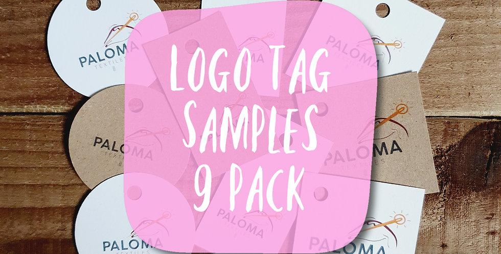 Logo Tag Sample Pack/ 9 pack