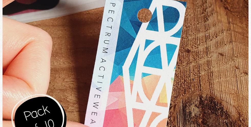 10pk - Rectangle Swing Tags - Full Colour