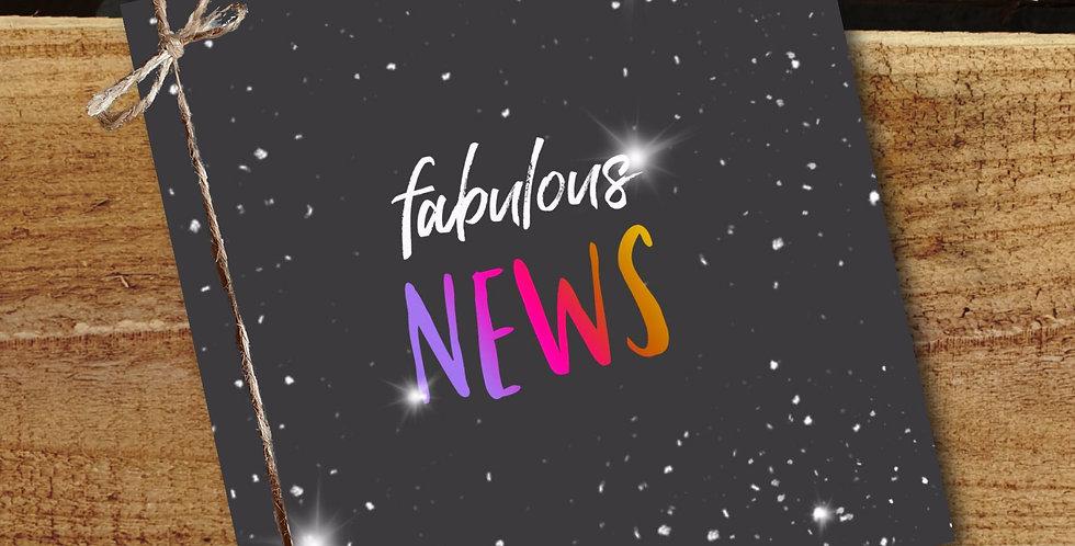 Fabulous News Card