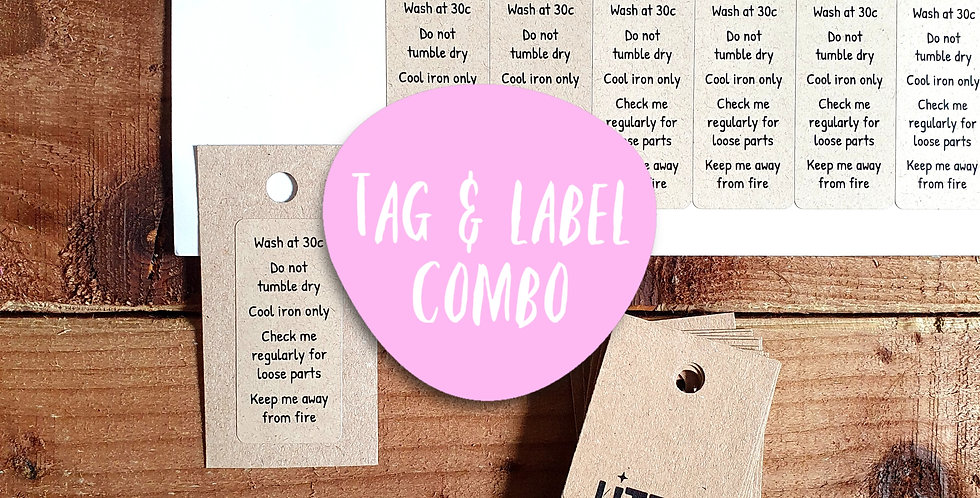Kraft Tag & Label Combo/ 50 Tags/ 48 labels