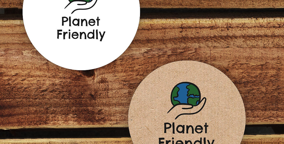 Recycled Stickers/ Planet Friendly 35mm