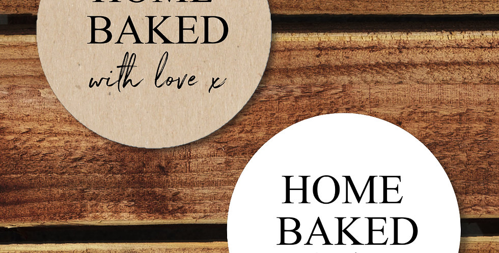 Home Baked Stickers - 35mm Circles