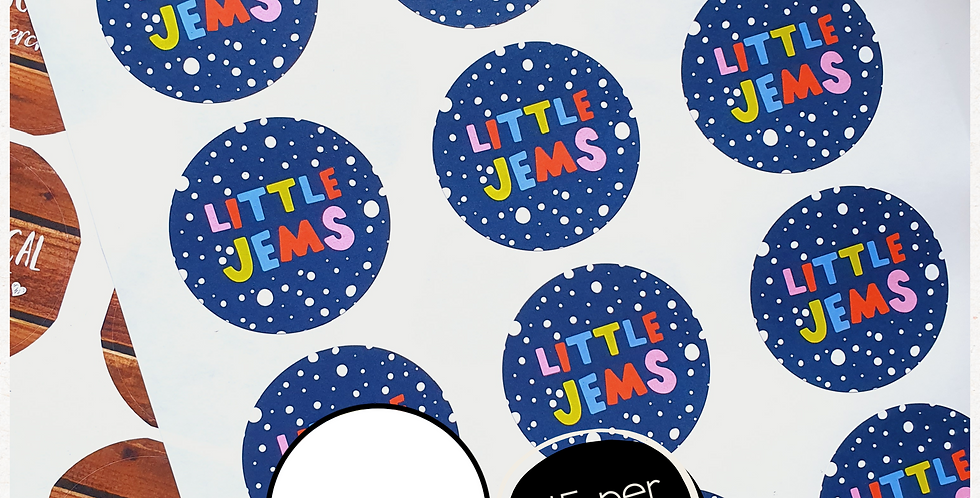 REPEAT ORDER 51mm Circle Stickers - White or Colour