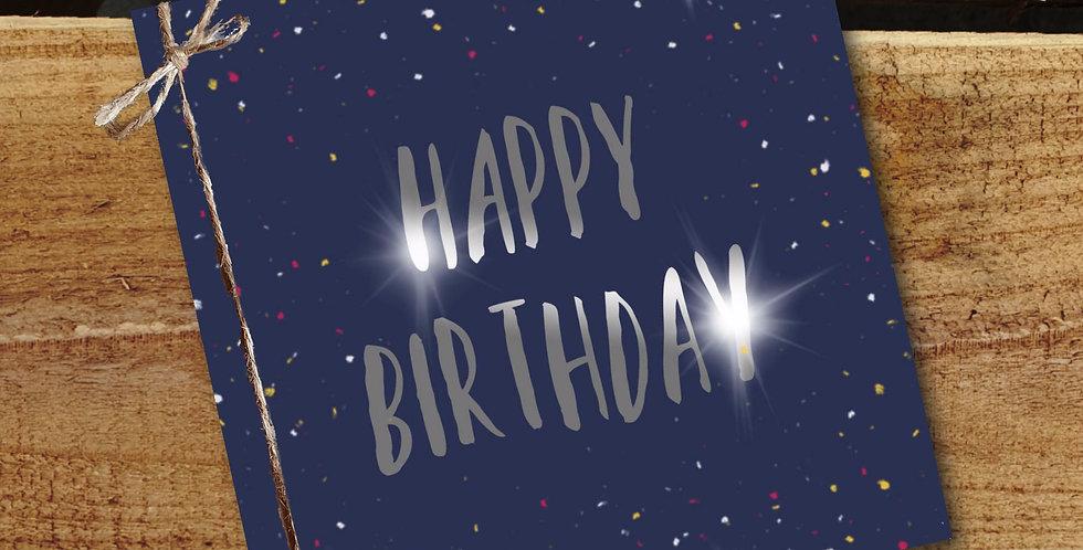 Happy Birthday Card/ Navy