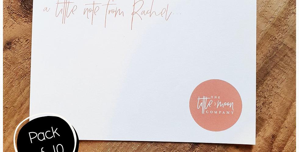 10pk - A6 Note Postcard - White Matte