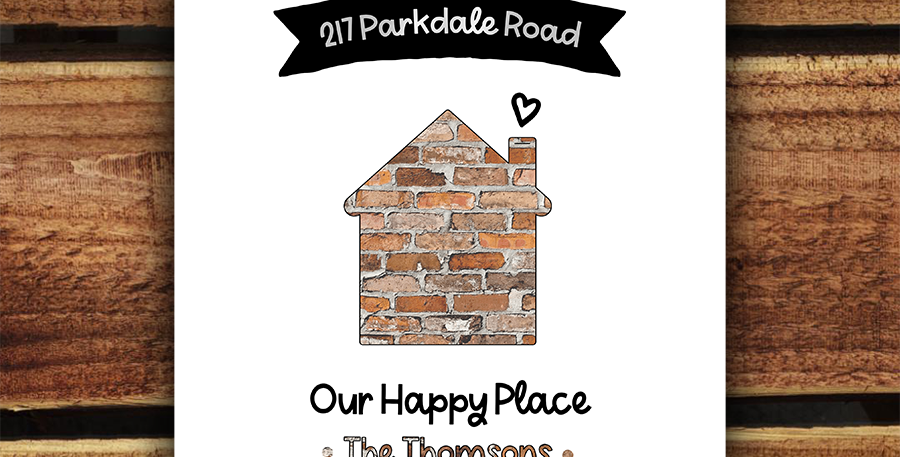 A4 Personalised Home Print/ Happy Place