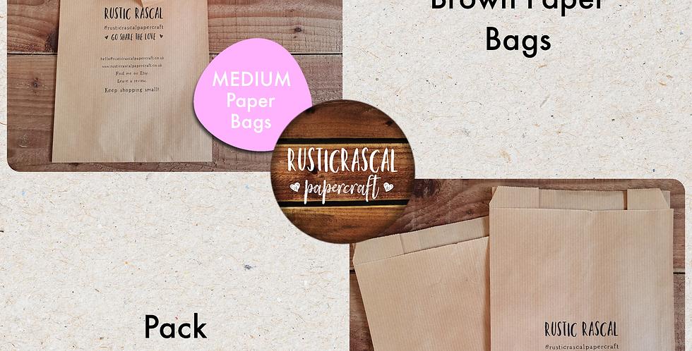 10 pack/ Medium Brown Paper Bags