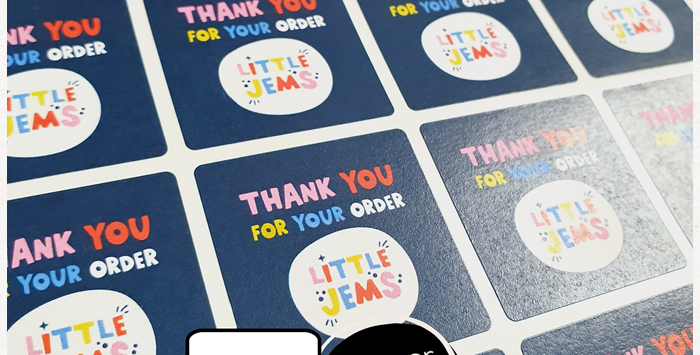 REPEAT ORDER 35mm Square Stickers - White or Colour