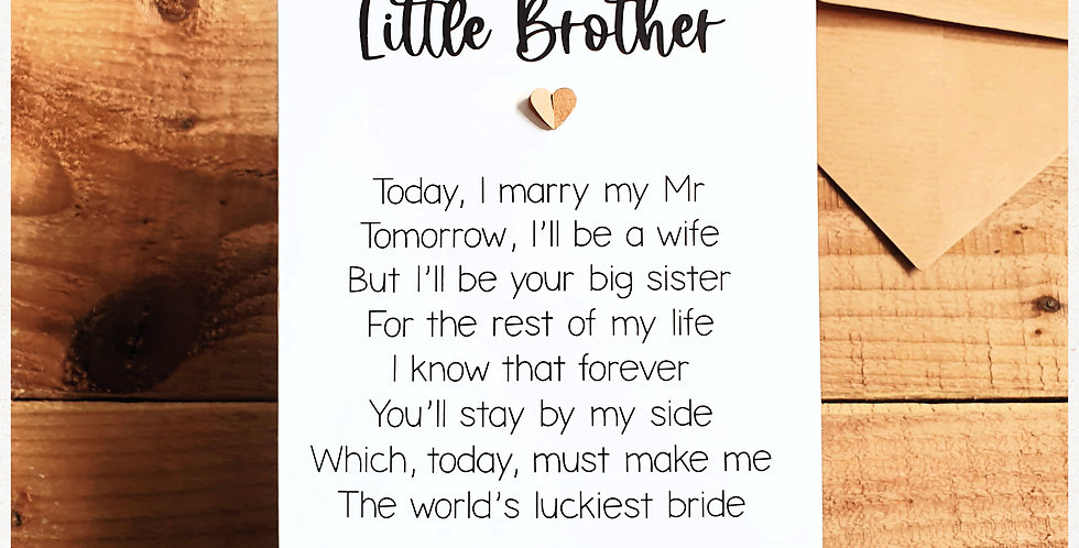 Little Brother Wedding Card