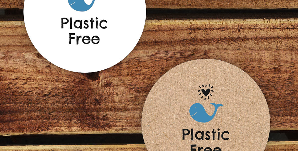 Recycled Stickers/ Plastic Free 35mm