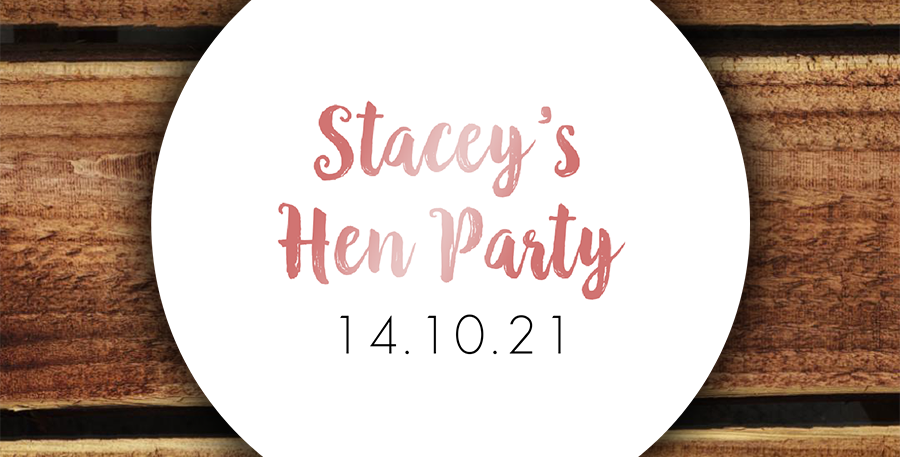 Recycled Custom Hen Party Stickers/ 35mm