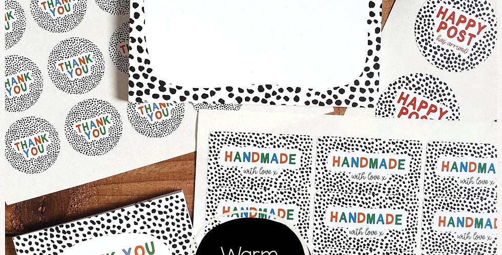 Small Biz Bundle - Dalmatian Print - Warm Rainbow