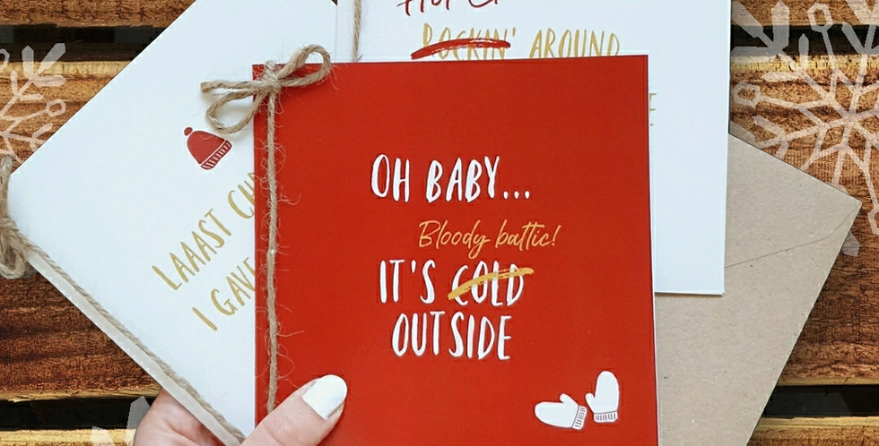 3 pack/ Christmas Cards