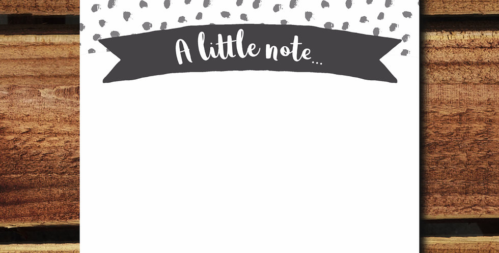 10pk/ Spotty Grey Note Cards