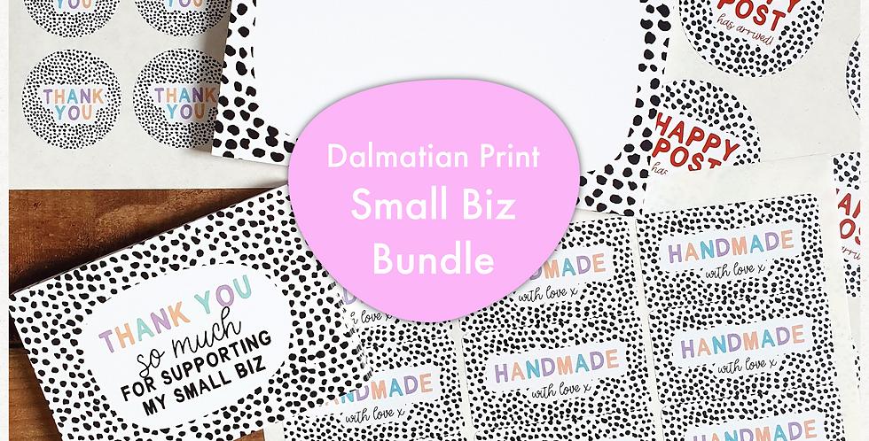 Small Biz Bundle/ Dalmatian Print/ Pastel Rainbow