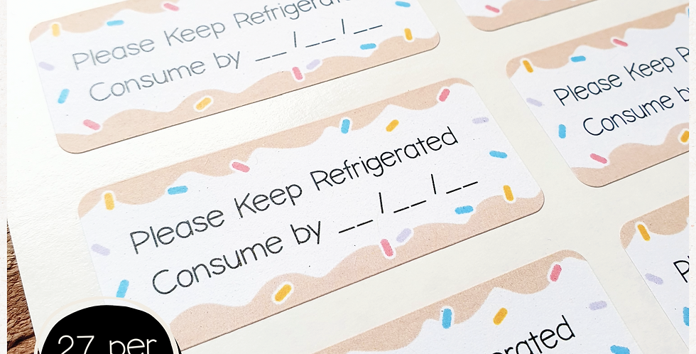 Keep Refrigerated Stickers - 60x25mm rectangles