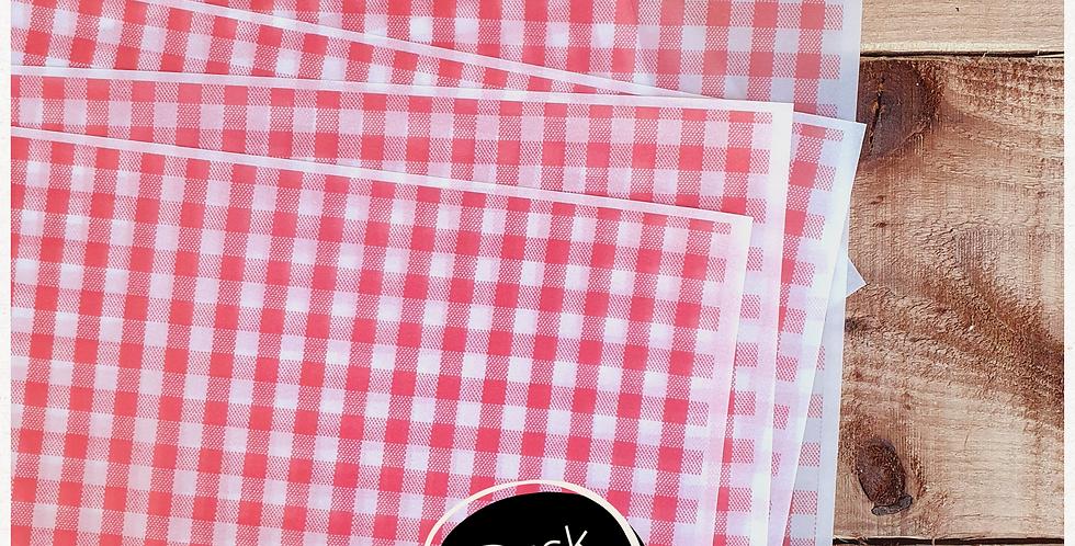10pk - A4 Transparent Wrap Sheets - Picnic Table Pattern