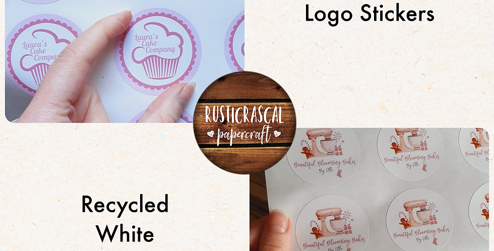 REPEAT ORDER Logo Stickers 51mm/ Recycled White
