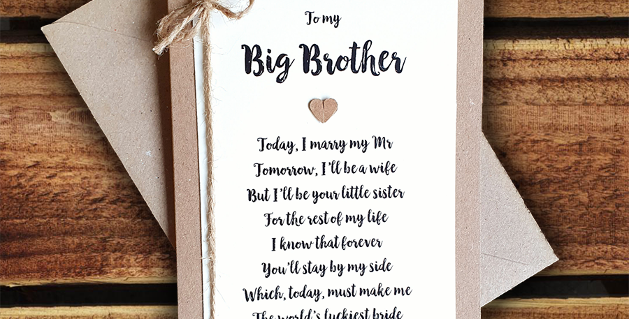 Big Brother Wedding Card