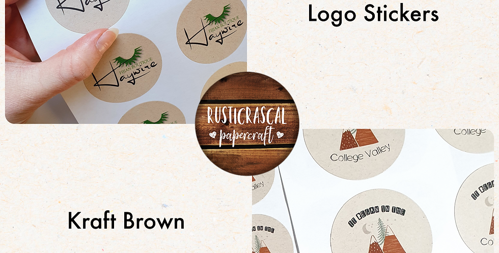 REPEAT ORDER Logo Stickers 51mm/ Kraft Brown