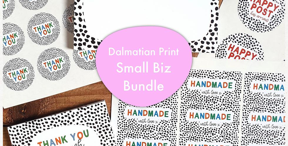 Small Biz Bundle/ Dalmatian Print/ Warm Rainbow