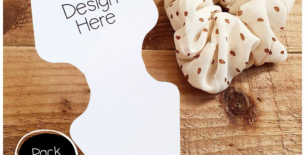 12pk -  Scrunchie Tags - White Matte