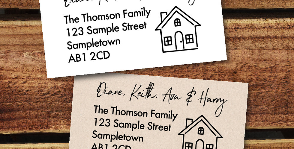 Personalised Family Address Stickers/ 64mm