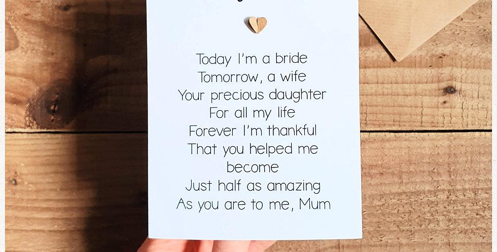 Mum Wedding Card