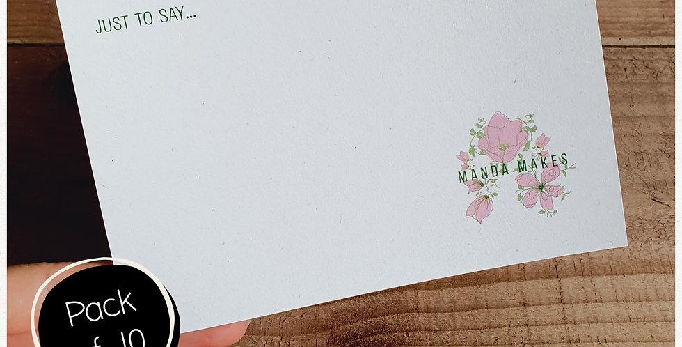 10pk - A6 Note Postcard - Eco Fleck