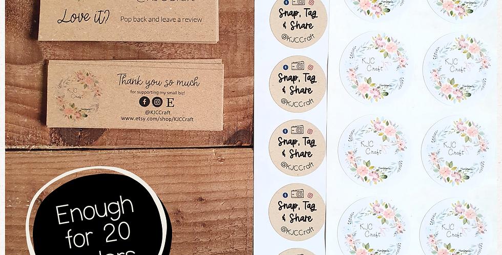 Small Packing Bundle - Your Logo - Kraft Brown