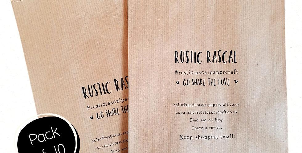 10pk - Medium Brown Paper Bags