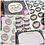 Thumbnail: Small Biz Bundle/ Dalmatian Print/ Black & Tan