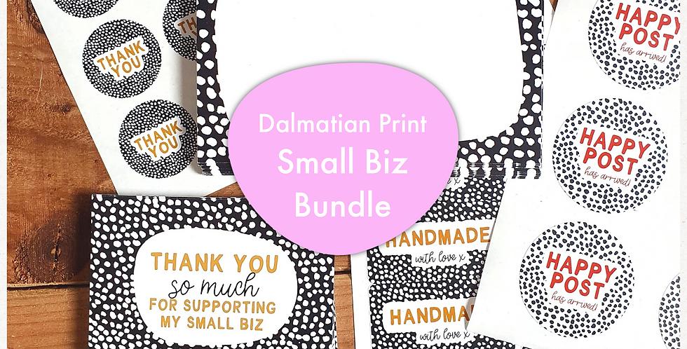 Small Biz Bundle/ Dalmatian Print/ Black & Tan