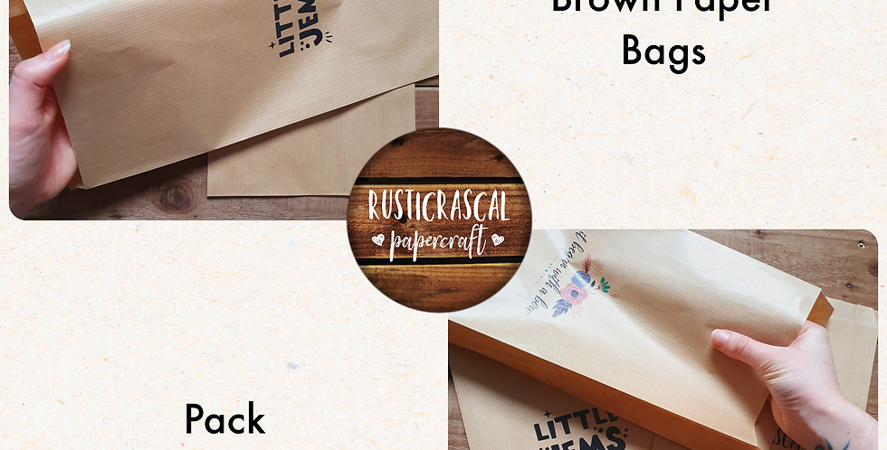 10 pack/ Large Brown Paper Bags