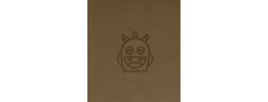 Brown Spooky Monster Spiral Notepad