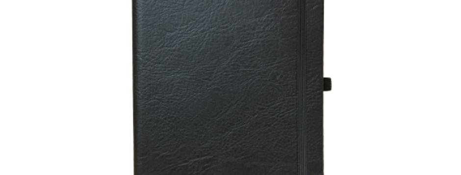 Black Compact Elastic Notebook