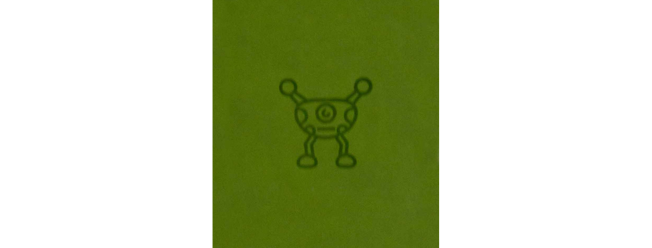 Green Silly Monster Spiral Notepad
