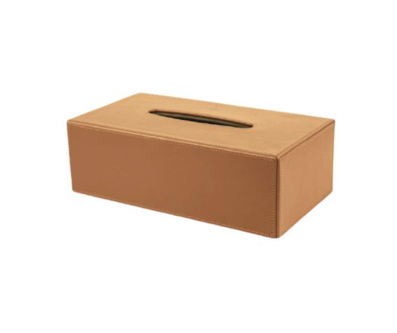 Rectangular Leather Tissue Boxes