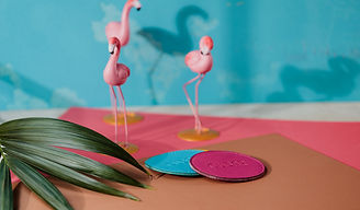 side-view-blue-pink-leather-coaster-pink