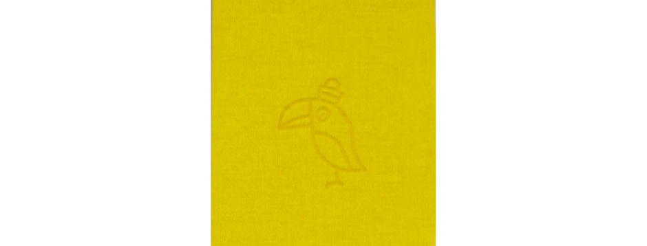 Yellow Parrot Spiral Notepad