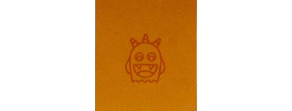 Orange Spooky Monster Spiral Notepad