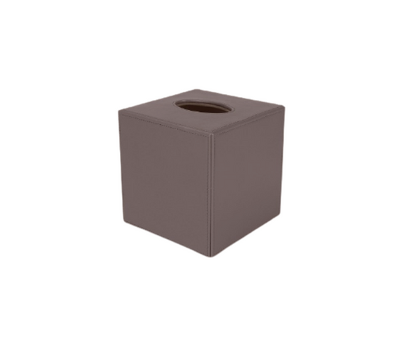 Squared Leather Tissue Boxes
