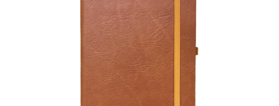 Brown Compact Elastic Notebook