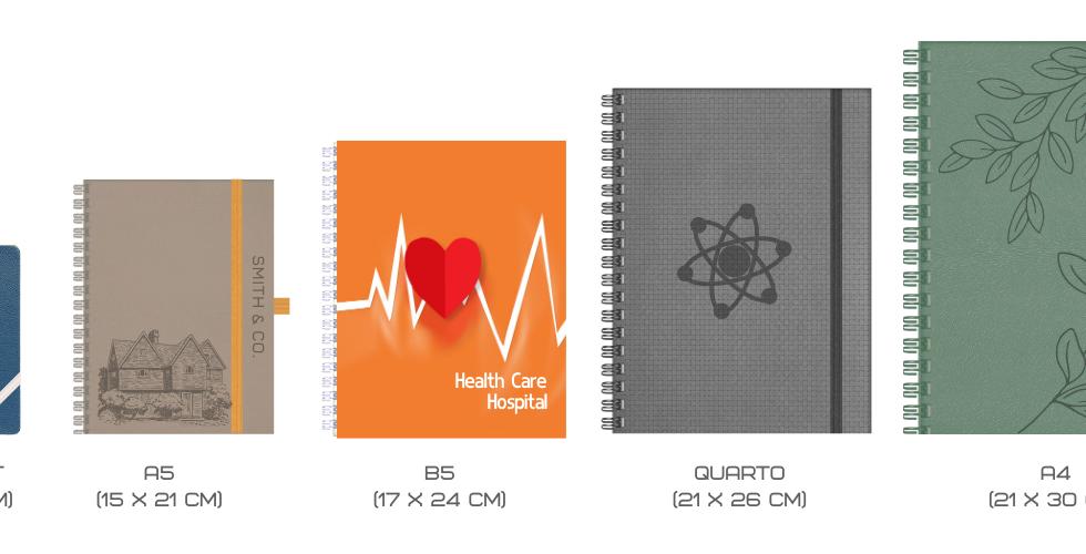 Spirabble Notebook Sizes