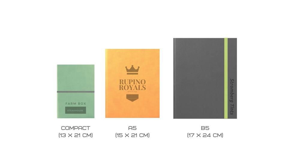 Edged Notebooks Sizes