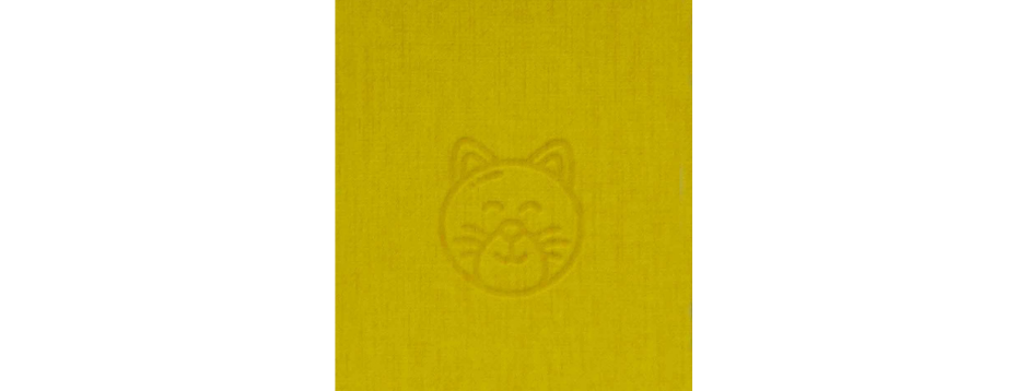 Yellow Cat Spiral Notepad